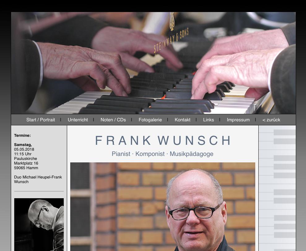 Pianist Frank Wunsch Köln
