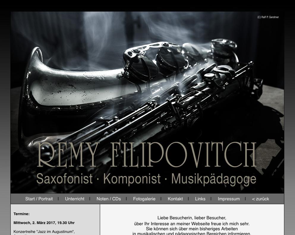 Saxofonist Remy Filipovitch
